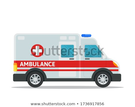 Ambulance van insigne isolé blanche Photo stock © lkeskinen
