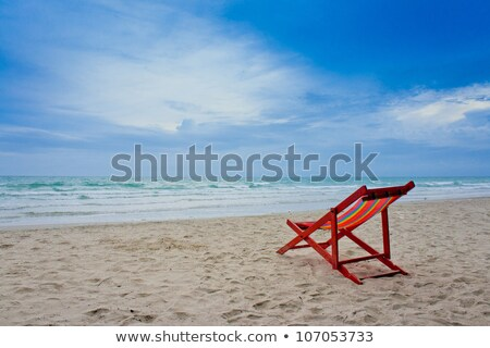 Beach chair and Umbrella on the beach , Huahin Thailand Stock photo © jakgree_inkliang