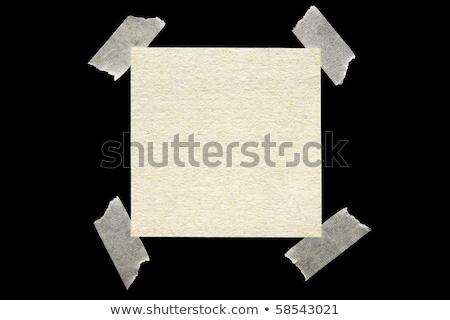 Vieux papier coincé noir texture vintage blanche Photo stock © latent