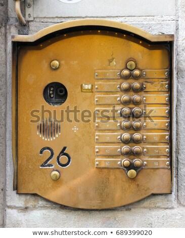 metallic doorbell plate Stock photo © prill