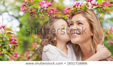 gelukkig · bloesems · heldere · witte · appel - stockfoto © RachelD32