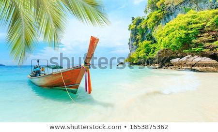 Plage phuket Thaïlande île oasis trois Photo stock © sumners
