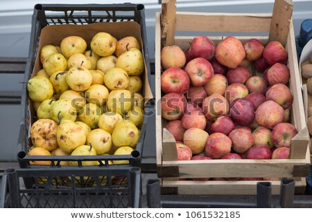 fresh organic apple and pear at a street market in istanbul tur stock photo © kuzeytac