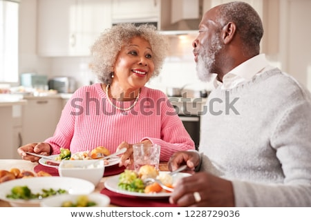 couple eating meal at home stock photo © photography33