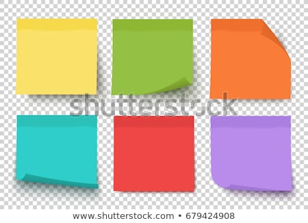 Set of vector stickers in red, green, blue and yellow colors Stock photo © experimental