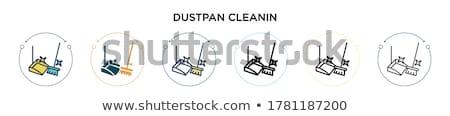 Por serpenyő ecset izolált fehér takarítás Stock fotó © kitch