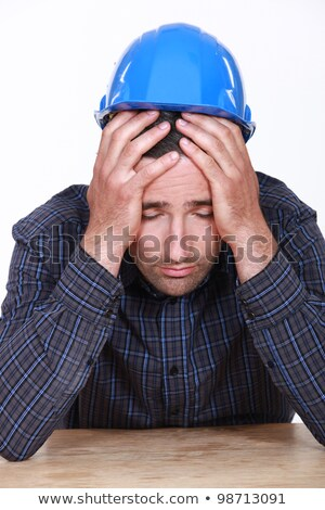 Overworked builder has had enough Stock photo © photography33
