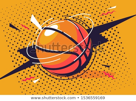 vector illustration of the basketball stock photo © experimental