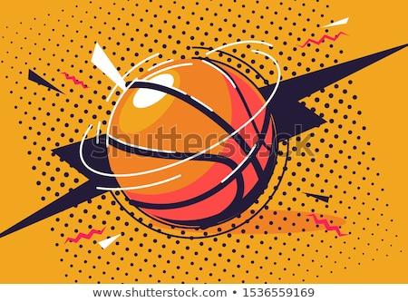 баскетбольная · площадка · подробный · иллюстрация · изометрический · перспективы · eps10 - Сток-фото © experimental