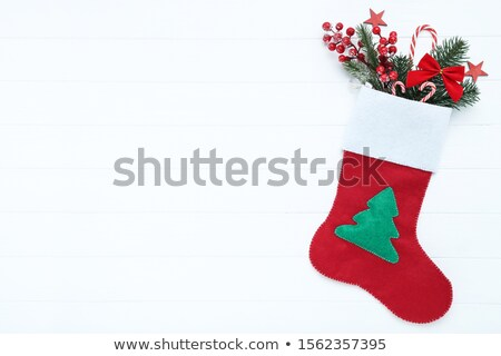 christmas red stocking stock photo © homydesign
