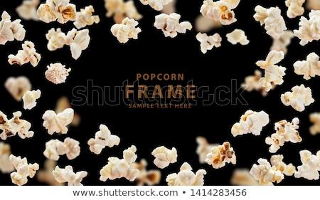 palomitas · vuelo · dentro · envases · a · rayas · maíz - foto stock © idesign