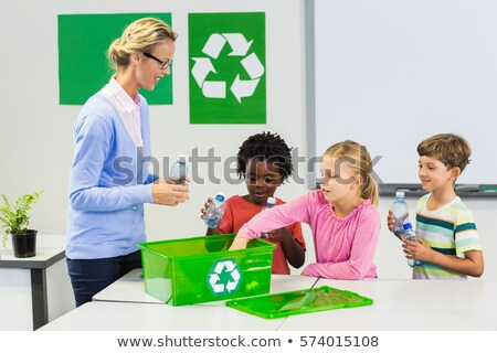 blonde woman showing the recycling symbol Stock photo © photography33