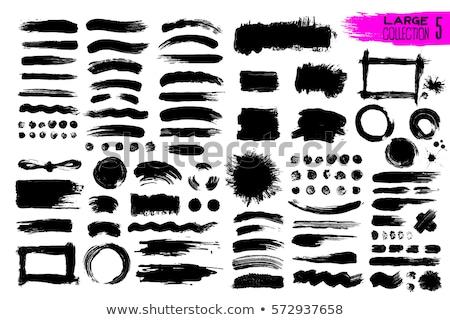 set of vector blots   design elements stock photo © pzaxe