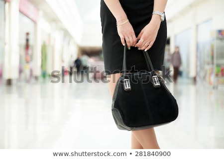 Jovem bela mulher pequeno vestido preto isolado Foto stock © rosipro