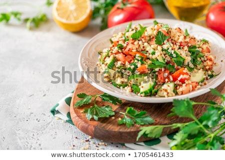 tabouleh quinoa salad stock photo © m-studio