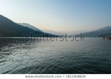 hazy day on lake Stock photo © mtkang