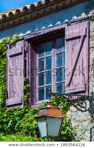 Farmhouse window with blue shutter Stock photo © obscura99