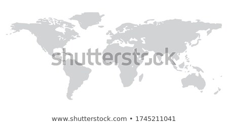 3D Wold Map Blue Stock photo © Lightsource