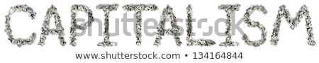 Capitalism - Crimped 100$ Bills Stock photo © eldadcarin