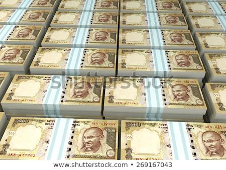 indian rupees money pile indian bills stock photo © dacasdo
