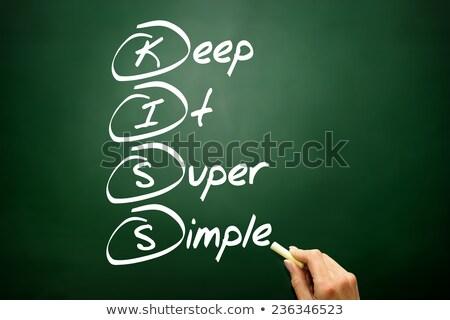 keep it super simple stock photo © ivelin