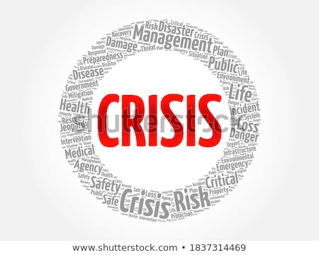Concept of crisis - the word Bankrupt in the background  Stock photo © dacasdo