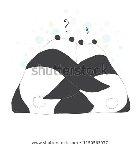 panda · bamboe · vergadering · tak - stockfoto © derocz
