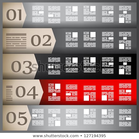 Infographic design template with paper tags. Ideal to display information, ranking and statistics wi Stock photo © DavidArts