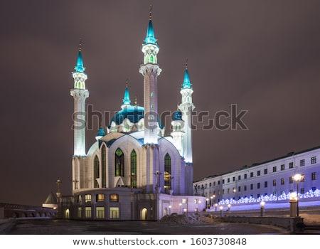 kul sharif mosque at night in kazan stock photo © mikko