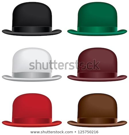 Brown bowler or derby hat Stock photo © Balefire9