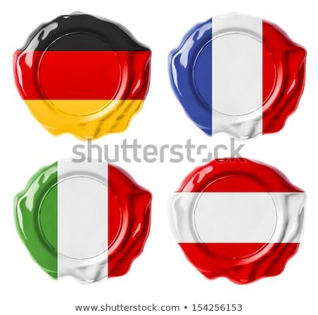 イタリア スタンプ 赤 ワックス シール 孤立した ストックフォト © tashatuvango