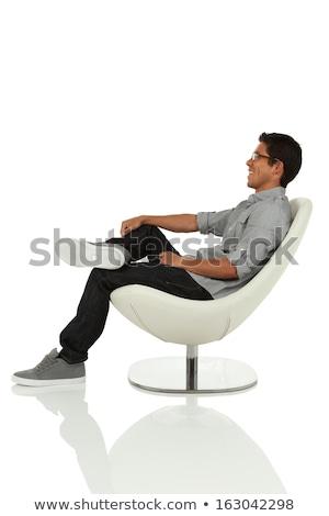 Asia · empresario · sentado · silla · retrato - foto stock © szefei