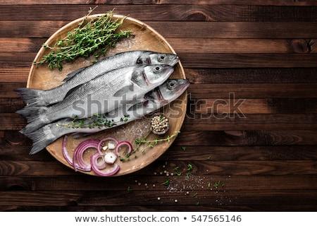морем бас изолированный белый продовольствие Сток-фото © Antonio-S
