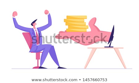 People on pile of golden coin. Money making concept Stock photo © Kirill_M