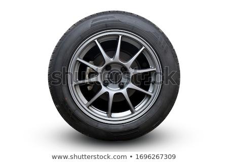 foto · carro · pneu · pneu · cinco · raio - foto stock © rtimages