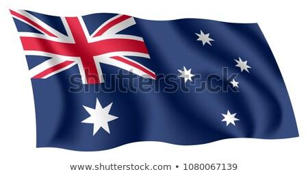 Austrália 3D bandeira isolado branco abstrato Foto stock © boroda