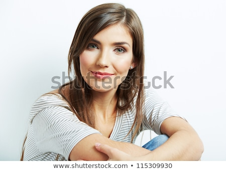 Portre güzel genç kadın poz stüdyo kız Stok fotoğraf © luckyraccoon