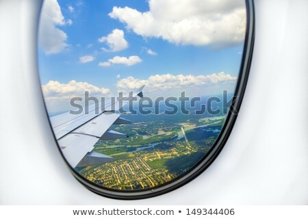 самолета окна пейзаж посадка самолет плоскости Сток-фото © meinzahn