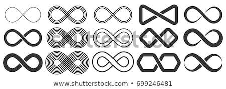 Symbol symbol nieskończoności nieskończoność świetle żółty streszczenie Zdjęcia stock © m_pavlov