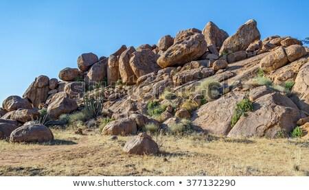 Südafrika Granit Stadt Stein Architektur Stock foto © michaklootwijk