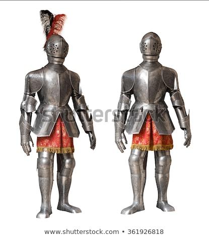 中世 騎士 鎧 白 孤立した 金属 ストックフォト © HERRAEZ