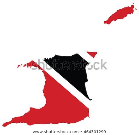 Trinidad And Tobago flag map Stock photo © daboost
