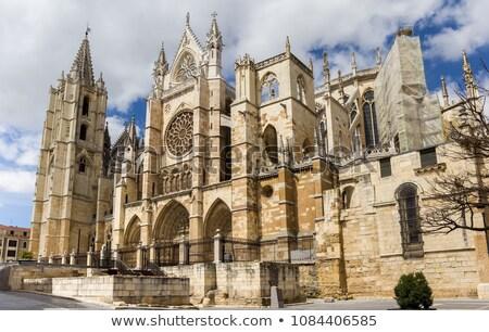 собора Испания город стекла окна искусства Сток-фото © HERRAEZ
