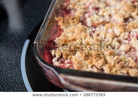 Ruibarbo sobremesa refeição insalubre Foto stock © raphotos