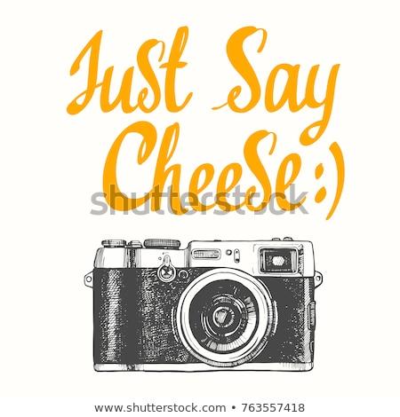 Ser uśmiechnięty model aparat cyfrowy Zdjęcia stock © Novic