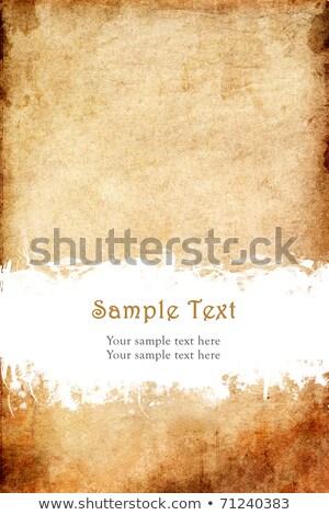 古い グランジ 紙 スクラッチ スペース サンプル ストックフォト © FrameAngel