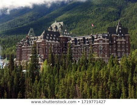 large hotel in banff canada stock photo © chrisga