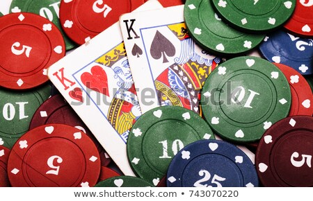 two aces winning lots of poker chips stock photo © latent