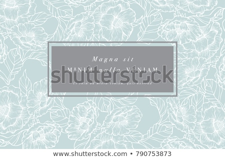 青 フローラル フレーム 雨 夏 ドロップ ストックフォト © almoni