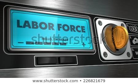 Munka kirakat árusító automata felirat üzlet munka Stock fotó © tashatuvango